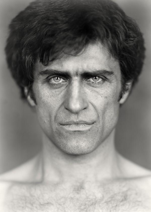 Photographie, noir et blanc, portrait, homme