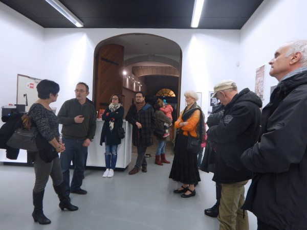 photographie du vernissage sur la route de Jacob Holdt