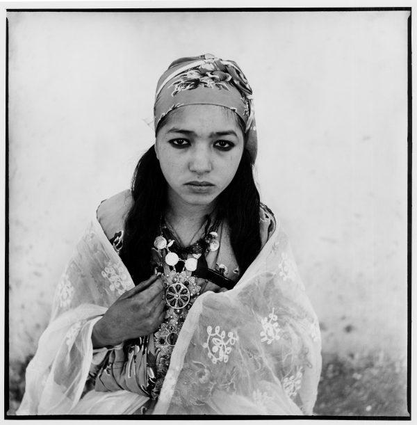 femme, algérienne, noir et blanc, photographie